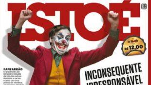Capa da revista IstoÉ ilustra Bolsonaro como Coringa e viraliza