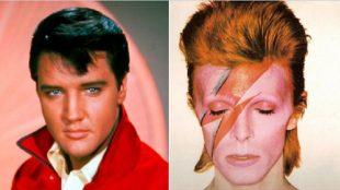 Fãs lembram aniversários de Elvis Presley e David Bowie