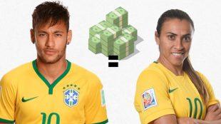 Desigualdade salarial entre Neymar e Marta foi questão do Enem