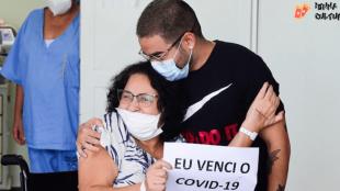 Após internação por Covid-19, mãe de Yudi Tamashiro comemora alta hospitalar