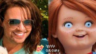Eduardo Costa apaga foto após virar meme e ser comparado com boneco Chucky