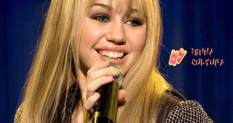 Miley Cyrus interprerando Hannah Montana
