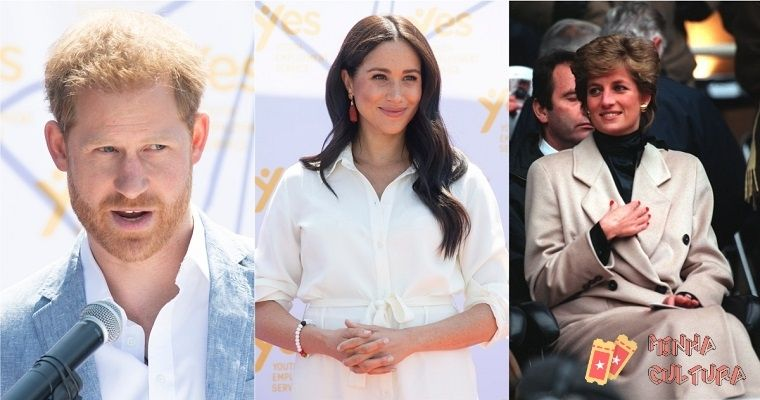 Príncipe Harry, Meghan Markle e Princesa Diana