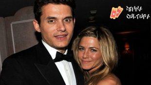 O cantor John Mayer e a atriz Jennifer Aniston