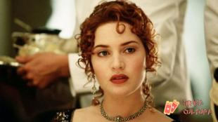 Kate Winslet em cena de Titanic como Rose