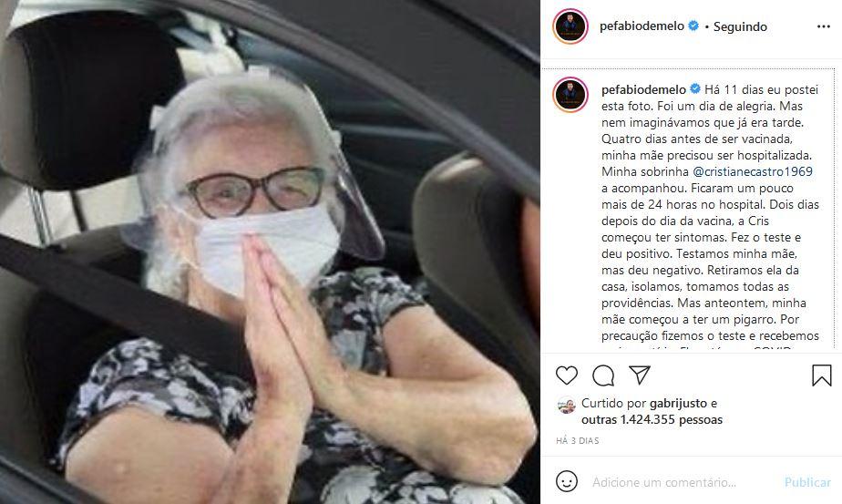 Mãe do Padre Fabio de Melo