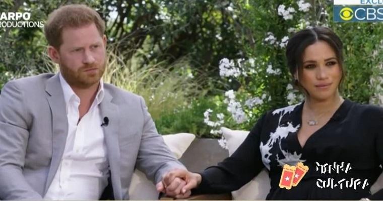 Príncipe Harry e Meghan Markle em entrevista reveladora para Oprah