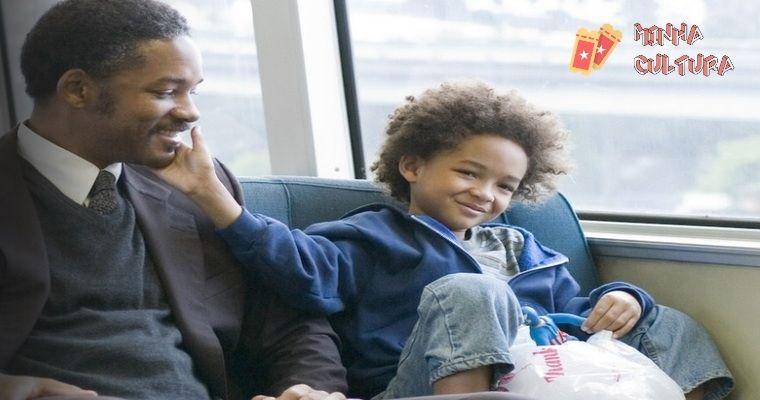 """Will Smith e o filho em """"A Procura da Felicidade"""""""
