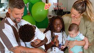 Giovanna Ewbank e Bruno Gagliasso celebram 9 meses do filho Zyan