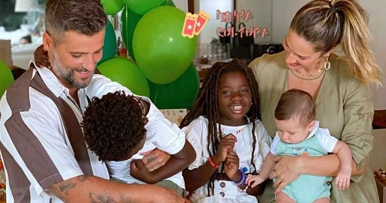 Bruno Gagliasso, Giovanna Ewbank e filhos
