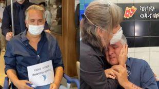 Orlando Morais, marido de Glória Pires, recebe alta hospitalar