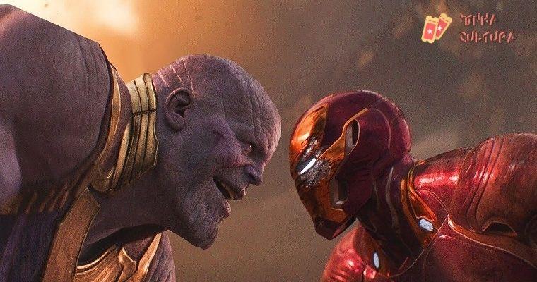 Thanos e Homem de Ferro