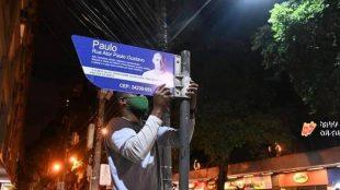 Novas placas são instaladas em Niterói para homenagear Paulo Gustavo