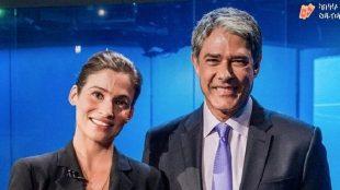 William Bonner e Renata Vasconcellos revelam surpresa no Jornal Nacional