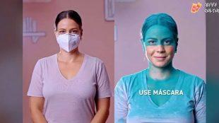 Vídeos de Leandra Leal explicando sobre o uso da máscara viralizam