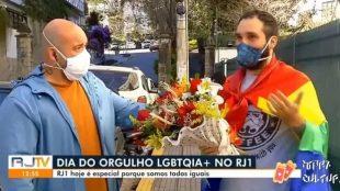 Repórter da Globo recebe surpresa do marido ao vivo e viraliza nas redes