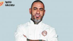 Henrique Fogaça sofre queda em estúdio do MasterChef e tem corte na cabeça
