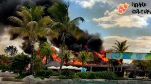 Incêndio atinge o Hot Park, em Rio Quente