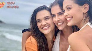 Deborah Secco, Vitória Strada e Juliana Paiva se despedem de Alexia, Kyra e Luna