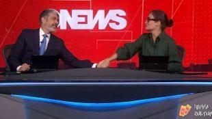 Bonner faz homenagem a Renata Vasconcellos após choro no 'Jornal Nacional'