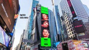 Marília Mendonça e Maiara e Maraisa são destaque na Times Square