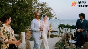 Vin Diesel acompanha filha de Paul Walker para entrada até o altar